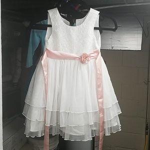 White lace flower girl/Easter dress